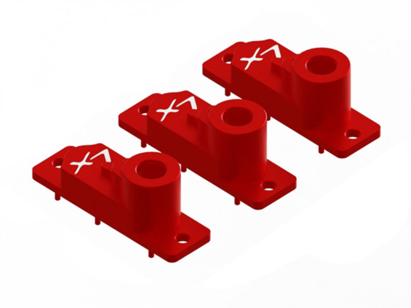 LX1572 - H2060 - 180 CFX - Aluminum CNC Upper Servo Case - 3 pcs - Red