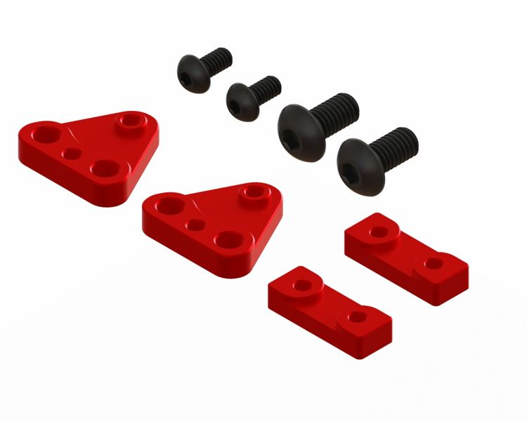 LX1580 - Gaui X3 - Tail Servo Mount CNC Set - Red