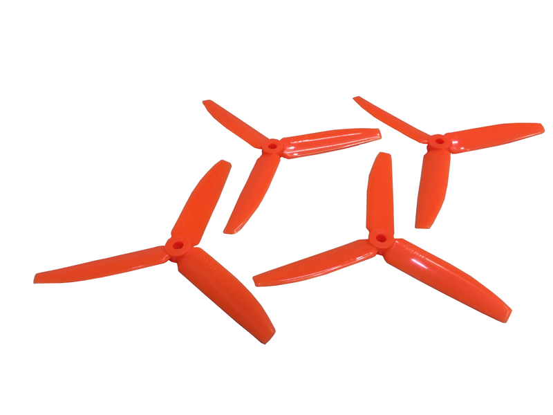 LX1819 - 5030-3  Lynx Racer Triple Blade Propeller CCW + CW Set - Orange