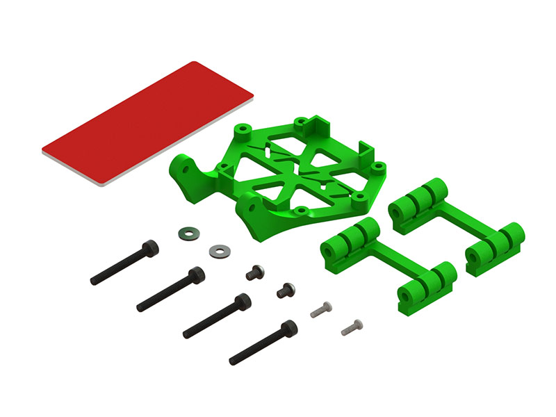 LX2606-2 - Torrent 110 - Soft Mount Support Set - STD FC - Micro Swift Camera, Green Color