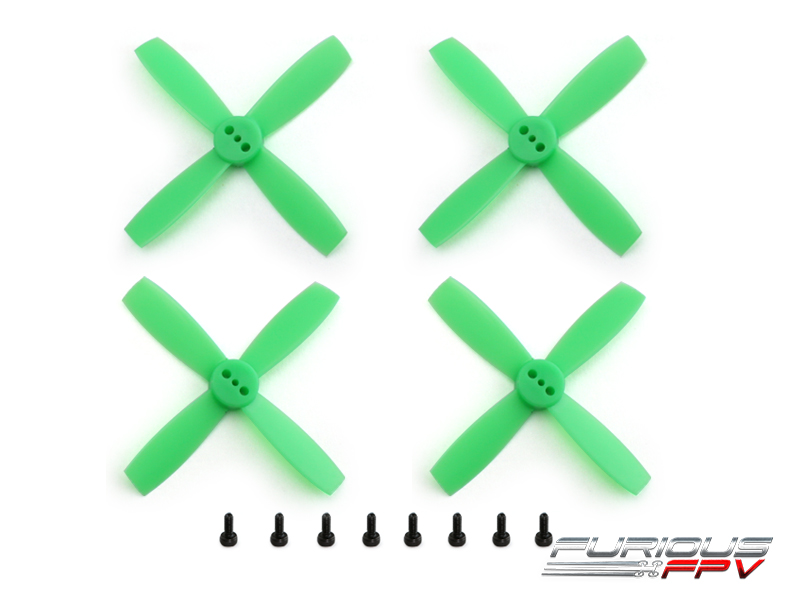 FPV-0113-S FuriousFPV High Performance 2435-4 Propellers (Neon Green 2CW & 2CCW)