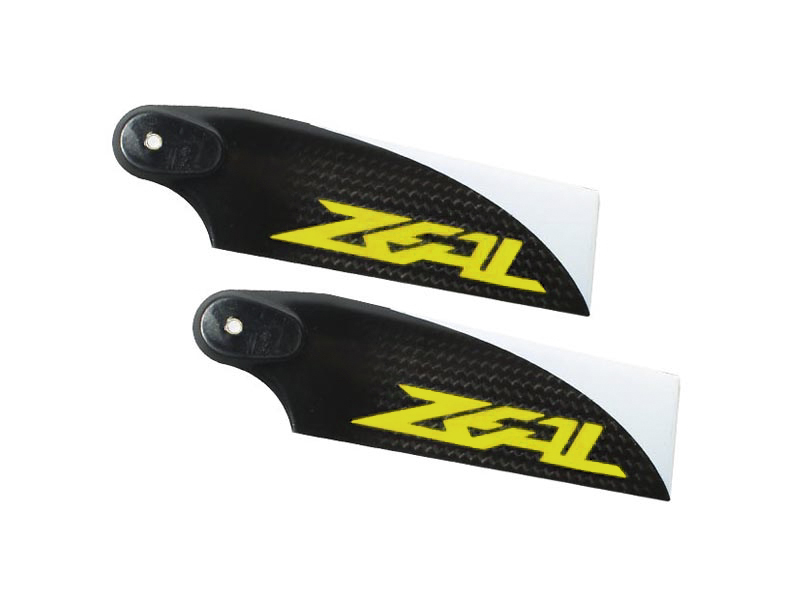 ZHT-105Y - ZEAL Carbon Fiber Tail Blades 105mm (Yellow)