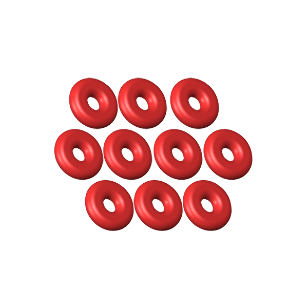 LX0419 - O-Ring ID 1 - W 1 Silicon Red - 10pcs