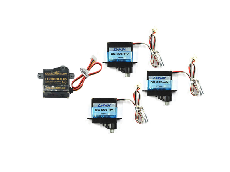 ECOXY2-001 3pc Cyclic Servo DS-895-HV and tail servo H0988UHS Combo