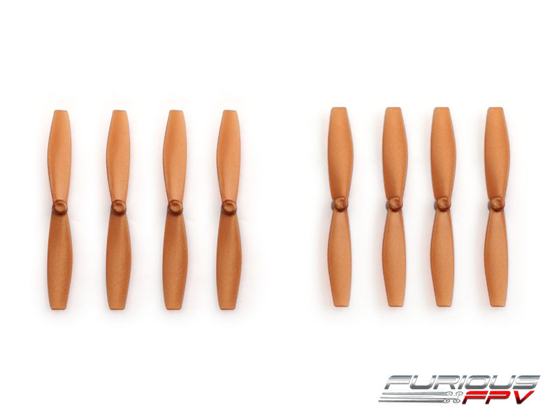 FPV-0082-S FuriousFPV High Performance 66mm Plastic Propellers (Brown, 4CW & 4CCW)