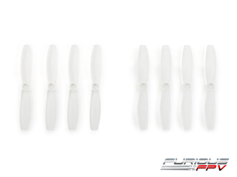 FPV-0083-S FuriousFPV High Performance 66mm Plastic Propellers (Transparent, 4CW & 4CCW)
