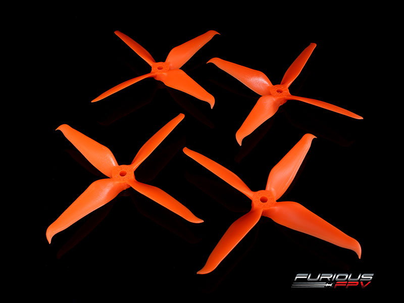FPV-0277-S RageProp 5042-4 Race Edition Propeller (2CW - 2CCW) - Orange