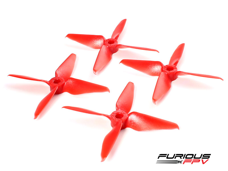 FPV-0281-S RageProp 3054-4 Race Edition Propeller (2CW - 2CCW) - Red