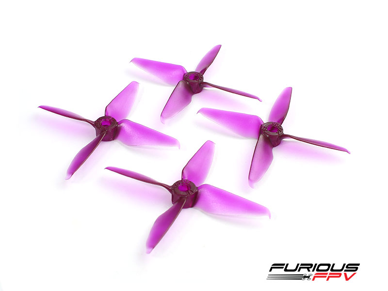 FPV-0288-S RageProp 3054-4 Race Edition Propeller (2CW - 2CCW) - Purple