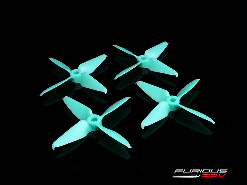 FPV-0297-S RageProp 3054-4 Race Edition Propeller (2CW - 2CCW) - Turquoise