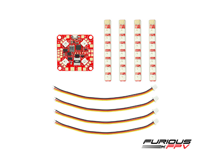 FPV-PDB-1R FuriousFPV Lightning PDB with LED Single row