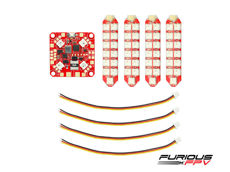 FPV-PDB-2R FuriousFPV Lightning PDB with LED Duo row