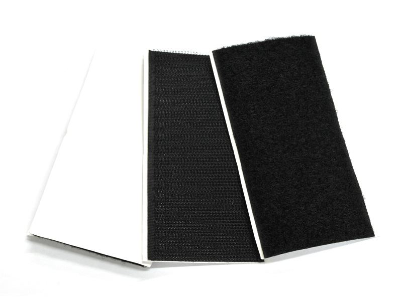 LX0180 - Hook & Loop HD Adhesive Pad 50x100 - (10H + 12L) - Black Color