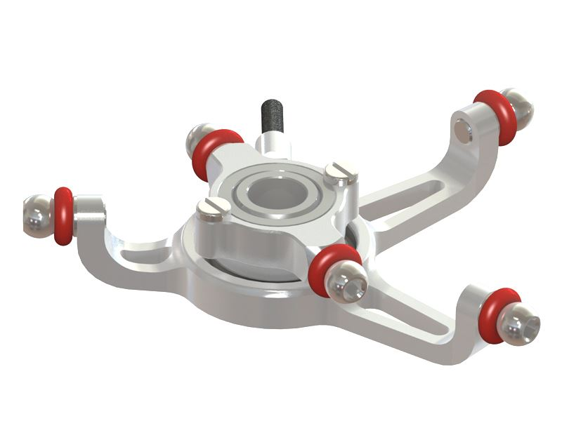 <p>Lynx Heli Innovations has redesigned and improved the standard 130X    plastic swash plate using a combination of 7075 aluminum alloy. We introduce a replaceable low friction copolymer    spherical  swivel bearing and robust stainless steel linkage balls that    comes  fully assembled and ready to fly/plug and play.</p>