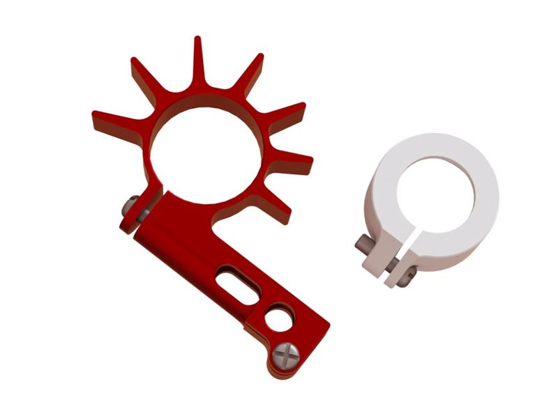 LX0650 - MCPS/MCPX BL - 7 mm Ultra Tail Motor Support - Red Devil