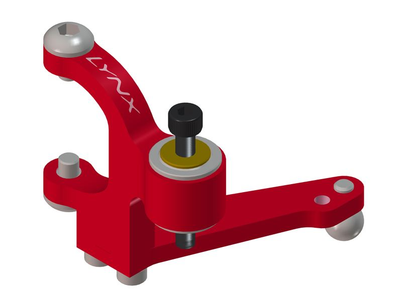LX0604 - 360CFX/450 X - PrecisionTail Bell Crank Lever - Red Devil Edition