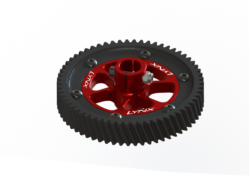 LX0617 - GOBLIN 500/570 - CNC Ultra Main Gear Set - Red Devil Edition