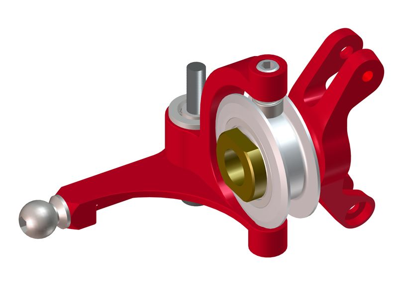 LX0648 - GOBLIN 500/570 - Precision Tail Bell Crank Lever - Pro Edition - Red
