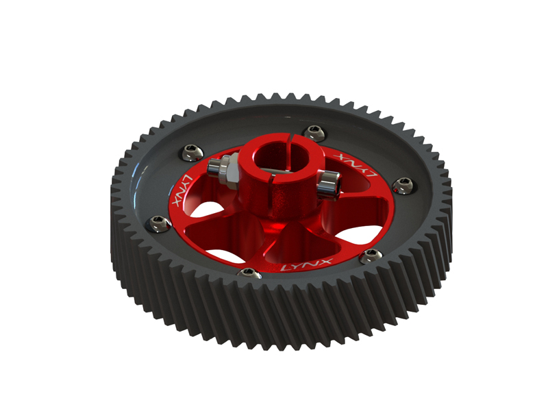 LX0752 - GOBLIN 700 - CNC Ultra Main Gear Set - Red Devil