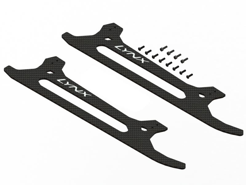 LX0787 - T-Rex 800E - Ultra Landing Gear Skid Replacement Set - CF - Profile 2
