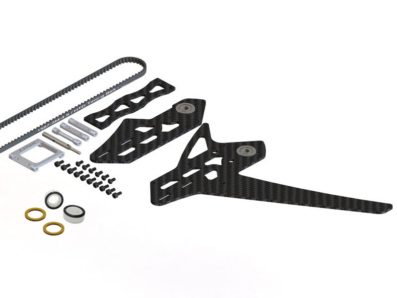 LX0884 - GOBLIN 500 - 550 Stretch Tail Kit - Silver