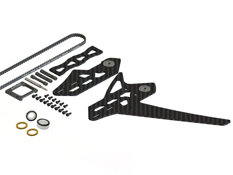 LX0886 - GOBLIN 500 - 550 Stretch Tail Kit - Black