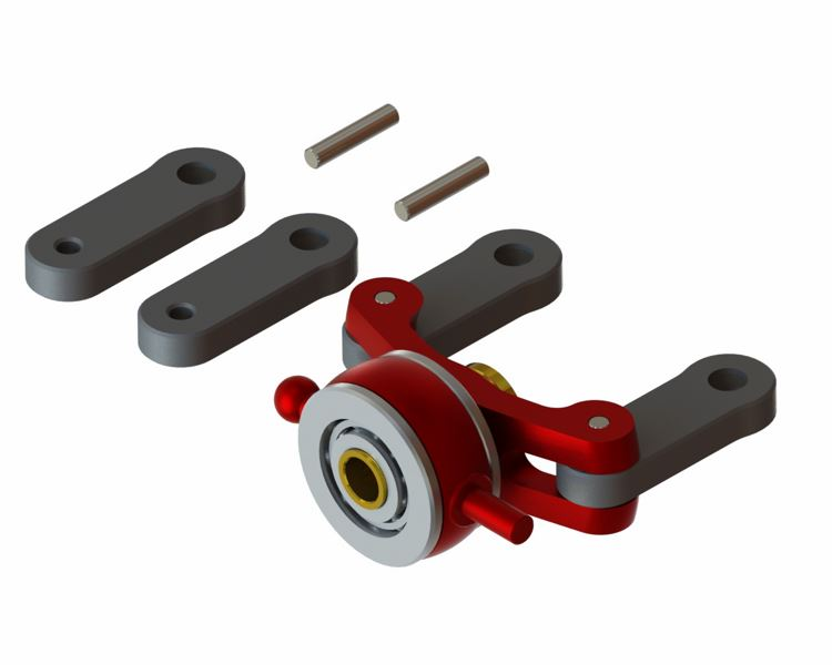 LX0904 - 130X - Double Ball Bearing Tail Pitch Slider Assembly - Pro Edition - Red Devil