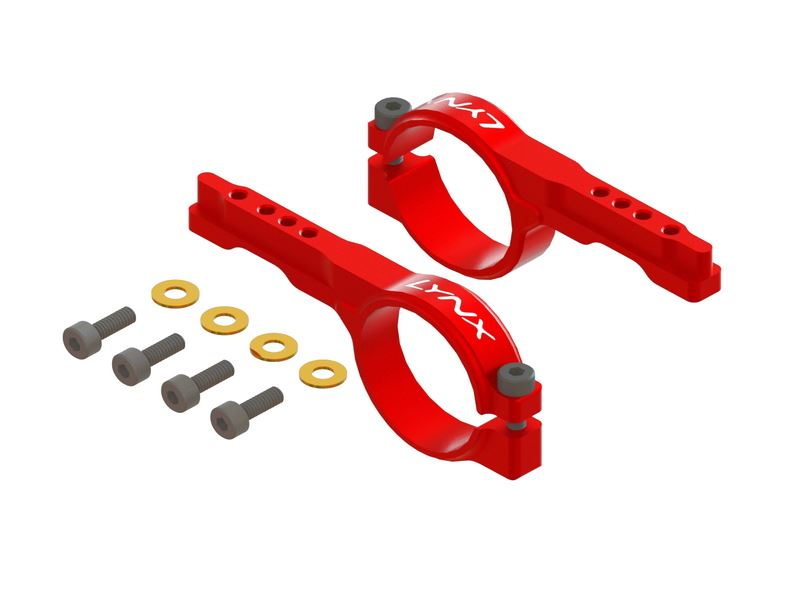 LX0921 - Protos 500 -  Heavy Duty Tail Servo Mount - Red Devil