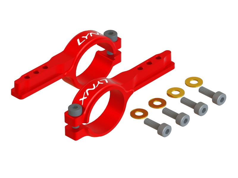LX0949 - MINI PROTOS -  Heavy Duty Tail Servo Mount - Red Devil
