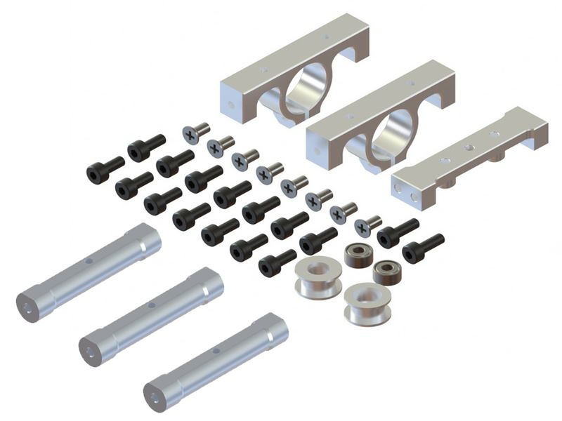 LX0971 - 300X - LYNX Frame - Boom Support And Frame Spacer, Set - Silver