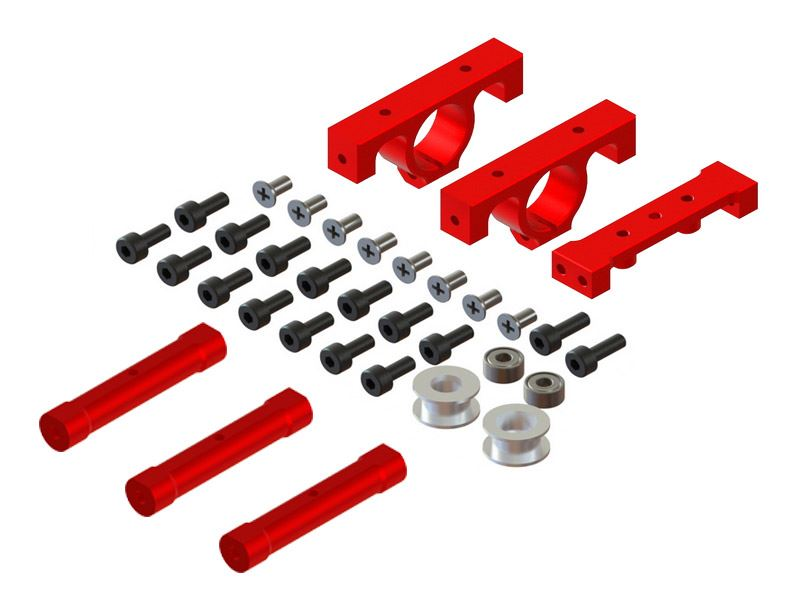 LX0979 - 300X - LYNX Frame - Boom Support And Frame Spacer, Set - Red Devil