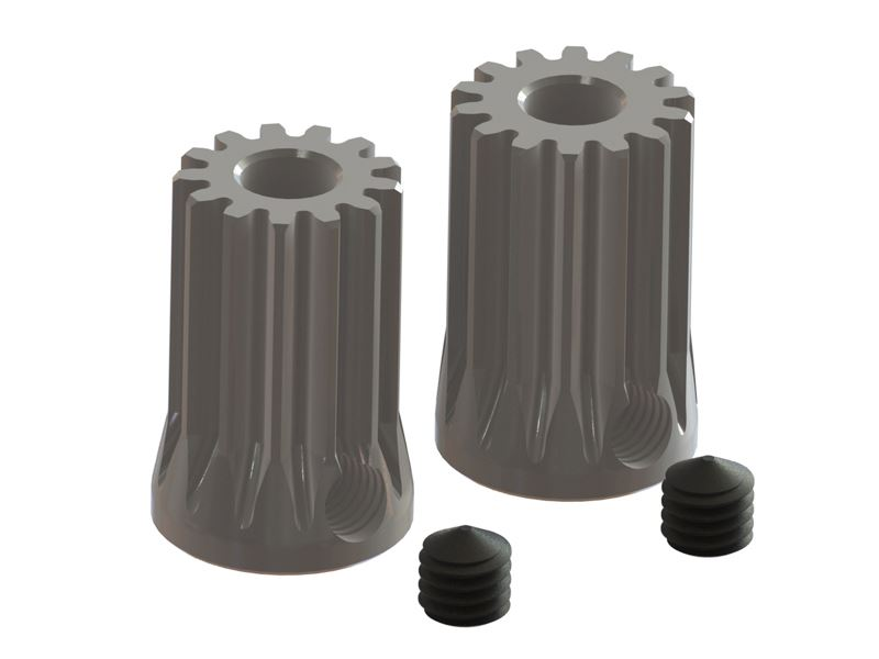 LX1092 - Pinion Set 13T-14T 0.5M x 3.17mm diam. Motor Shaft