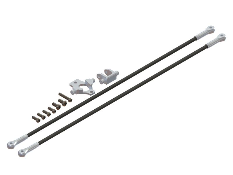 LX1107 - T 150 - Ultra Main Frame - Tail Boom Support - Silver