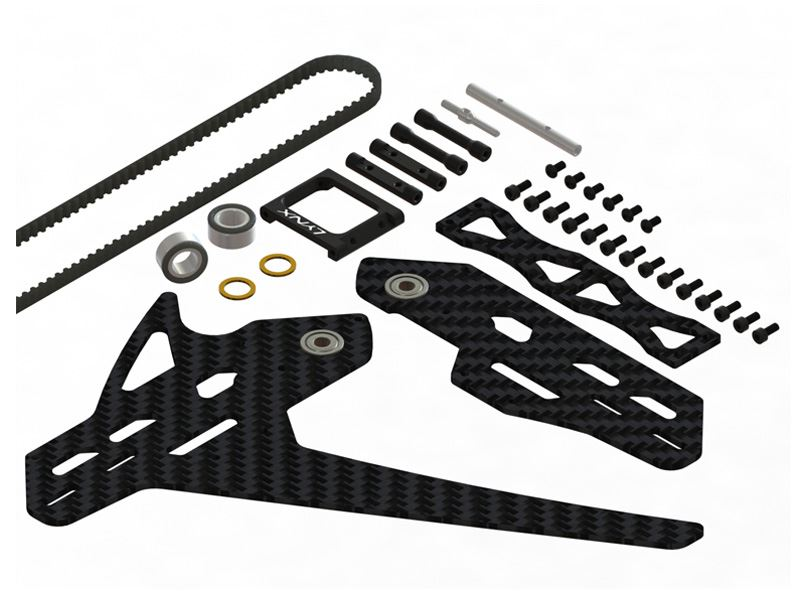 LX1161 - GOBLIN 570 - 620 Stretch Tail Kit - Black