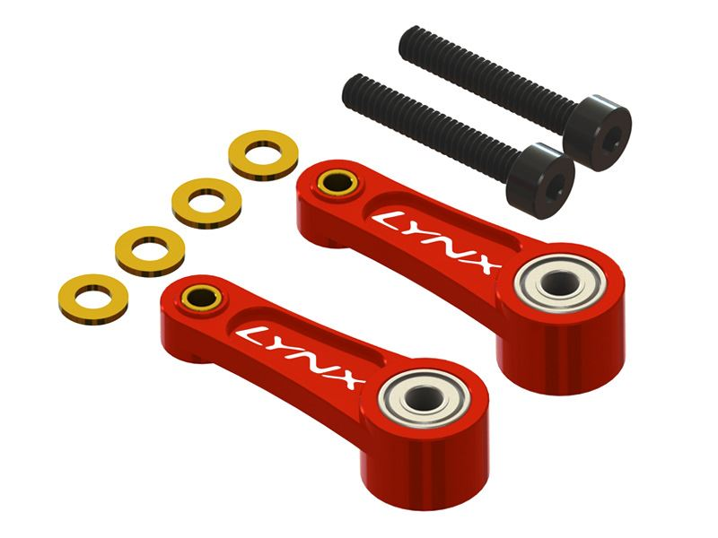 LX1187 - 300X/CFX - CNC Swash Follower Arm - Red - Set