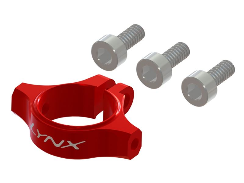 LX1378 - 180CFX - Ultra Tail Boom clamp - Red