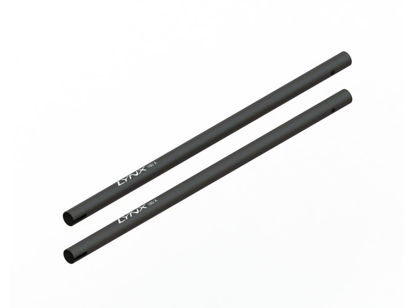 LX1415 - 180CFX - Tail Boom STD Length - Black, 2PC
