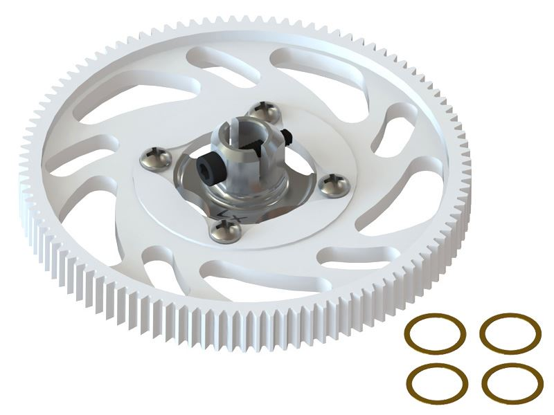 LX1434 - 180CFX - CNC Main Gear Set - Silver Hub