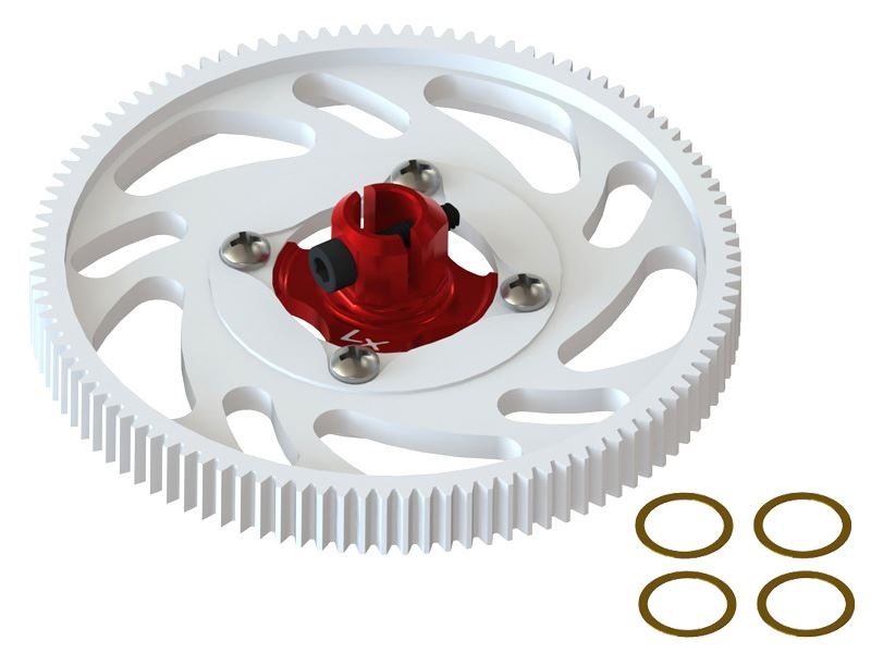 LX1435 - 180CFX - CNC Main Gear Set - Red Hub