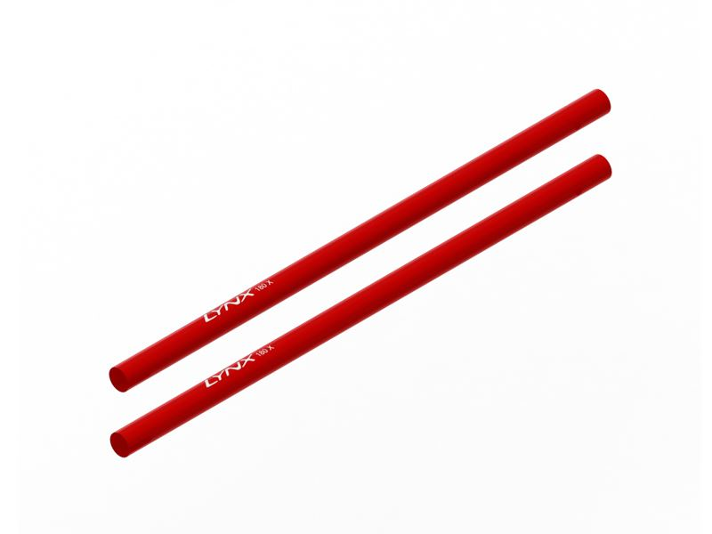 LX1469 - 180CFX - Tail Boom STD Length - Red, 2PC