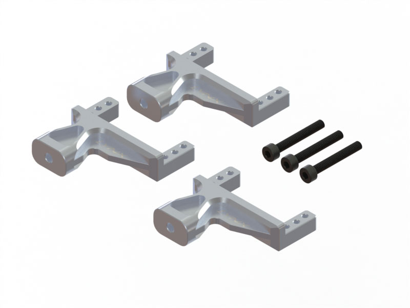 LX1660 - G380 - Aluminum Servo Support - 3 pc - Silver