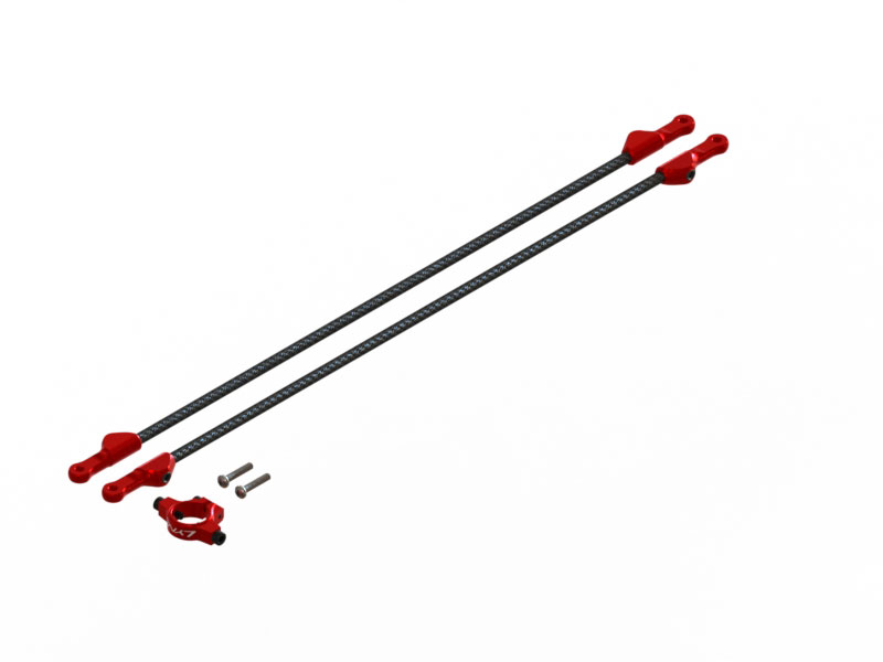 LX1755 - 230S/250CFX Tail boom support, Set -  Red