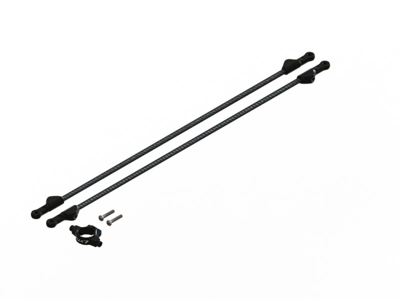 LX1756 - 230S/250CFX Tail boom support, Set - Black