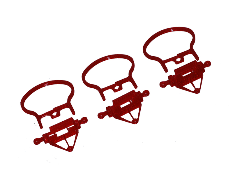 LX1994-5 - Inductrix FPV Rollbar Camera Mount  TPU  - 7/15/20 deg Set - Red - V2