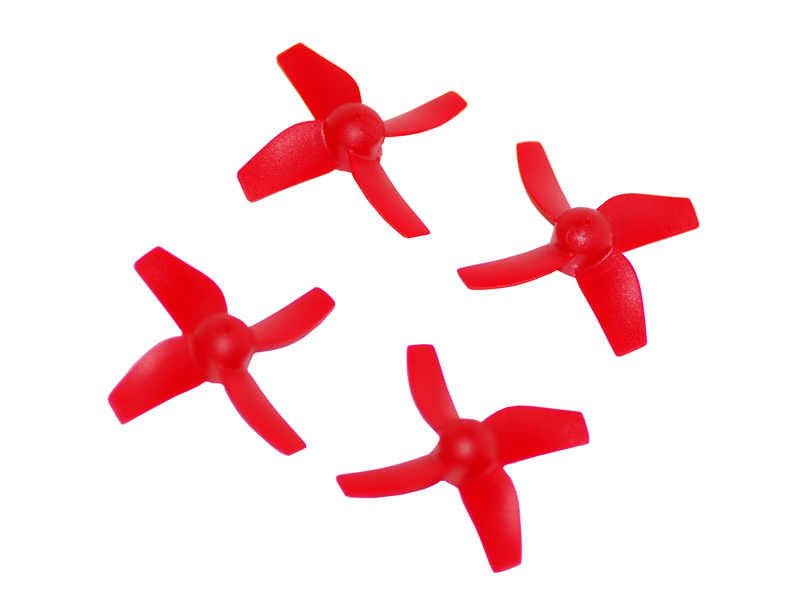 LX2134 31mm-4 Blades - 0.8 Motor Shaft Propeller-CW+CCW Set - Red