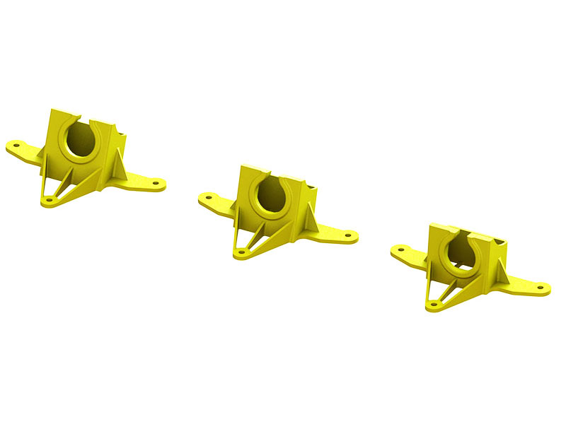 LX2206-4 - Super Mini AIO Camera Mount TPU - 7-15-20 deg Set - Yellow