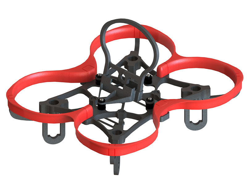 LX2340 - SPIDER 73 Stretch FPV Racer, Red Shroud
