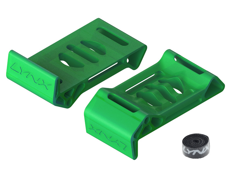 LX2511-2 Torrent 110 Battery Shield - TPU Ninja Flex - 2PC - Traslucent Green