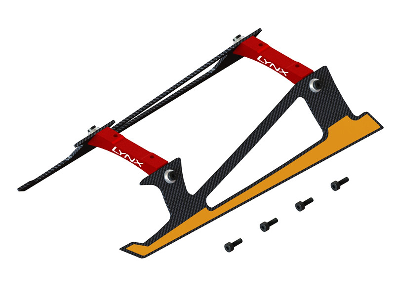 LX2532-7 - Fireball 280 - Low Profile Landing Gear, Red Color