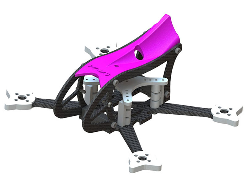 LX2598-11 - GosH 2 BL FPV Racer Frame, Purple Color
